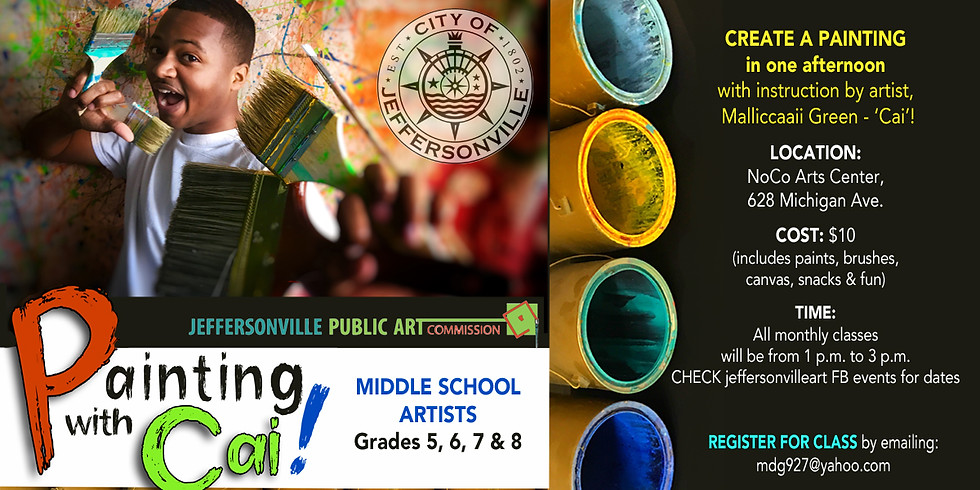 Creative Impact Series: Painting with Cai!