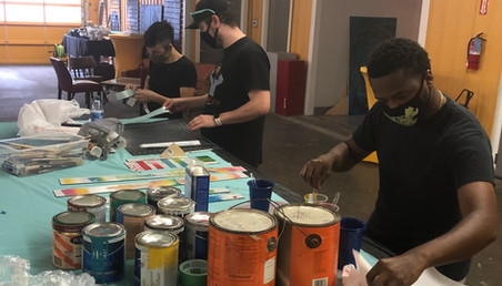 Hard at work in the NoCo Arts Center!