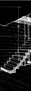Stair design development sketch