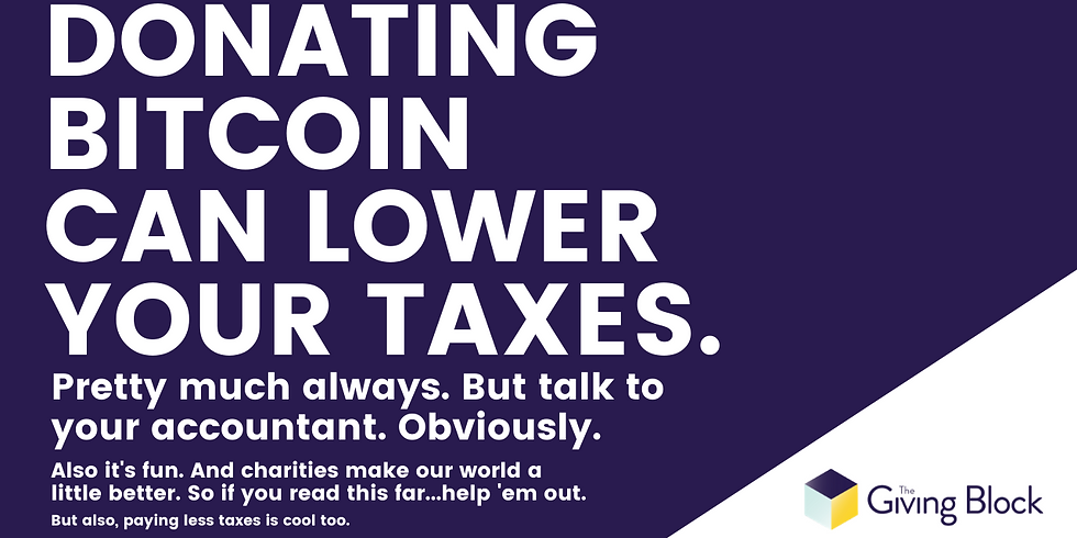 Donate Crypto, Lower Your Taxes