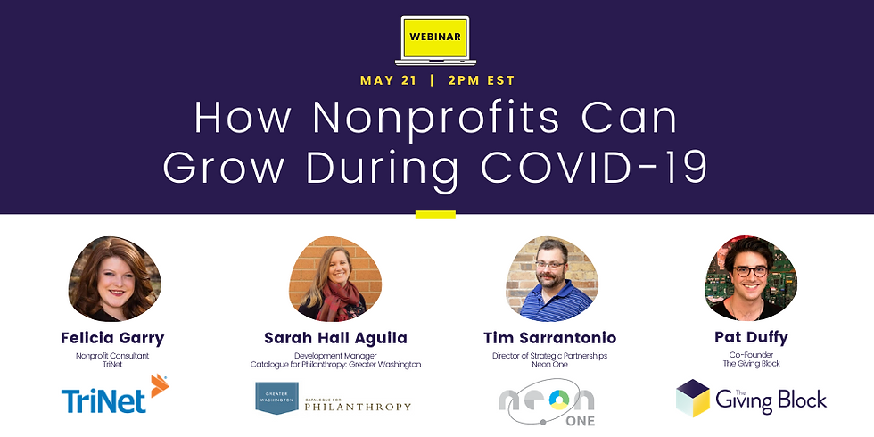 WEBINAR | How Can Nonprofits Grow During COVID-19?