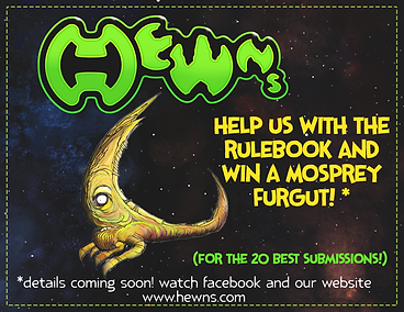 Help us with the Rulebook and win a Mosprey Fargut!
