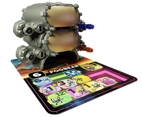 Place Biddox onto the card of the alien.