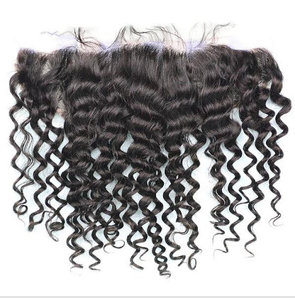 SEAMLESS BLEND 13×4 CURLY SWISS LACE FRONTAL