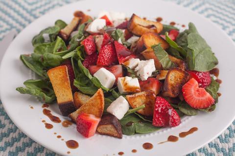 Gluten Free Strawberry Panzanella Salad