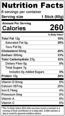 Buddha Breadstix Nutrition Info