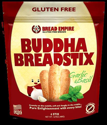 Buddha BreadStix Garlic & Basil Gluten Free Cheese Breadstix