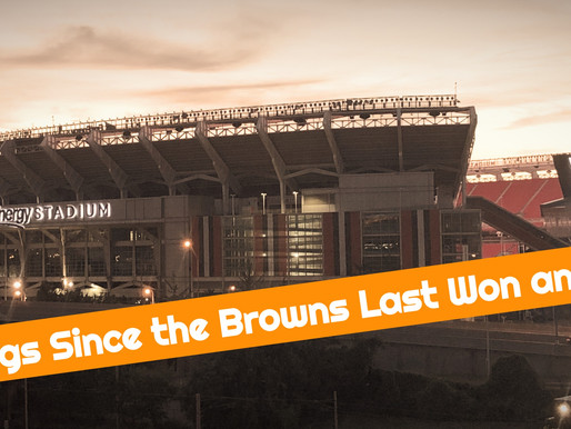 16 Things That Have Happened Since the Browns Last Won an Opener