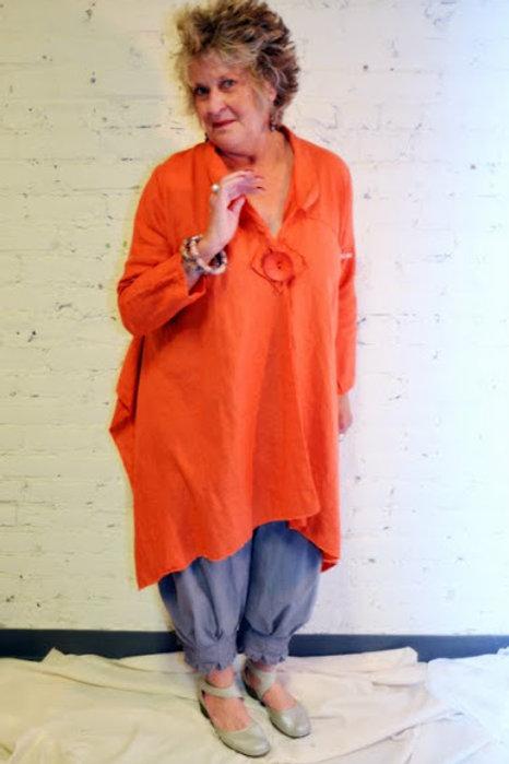 3 Square Coat in Linen
