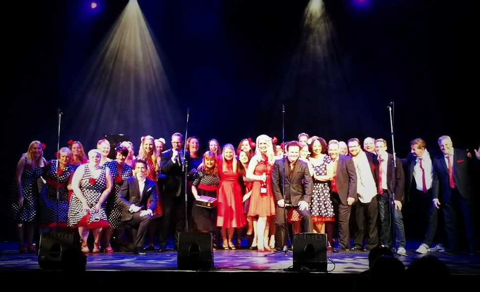 Tenors Unlimited and Sing People Sing on stage at The Regent Centre 25 May 2018