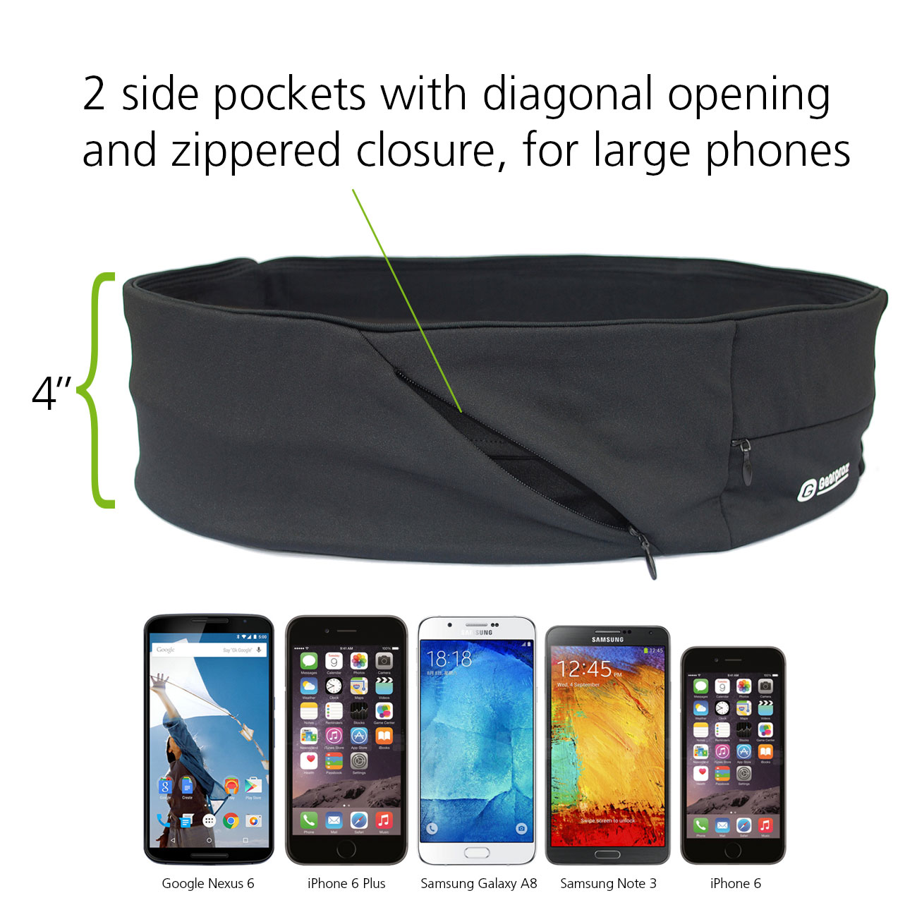 Sport Belt Plus holds larger phones