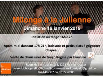 Cours d'initiation et milonga 19 janvier