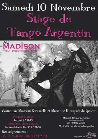 Professeurs invités à Évian-les-Bains (France) par l'association Tango Passion