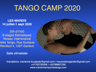 Summer workshop: Tango Camp 2020 intermediate/advanced