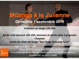 Milonga à la Julienne et cours d'initiation