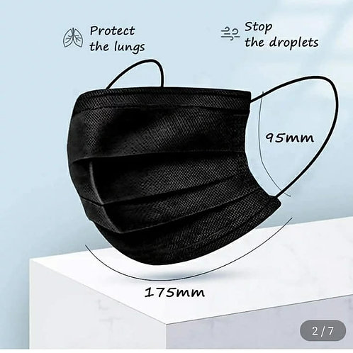 Black Masks--Disposable--9 for $10--
