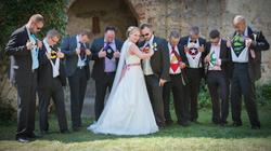 Superhelden Hochzeitsfoto