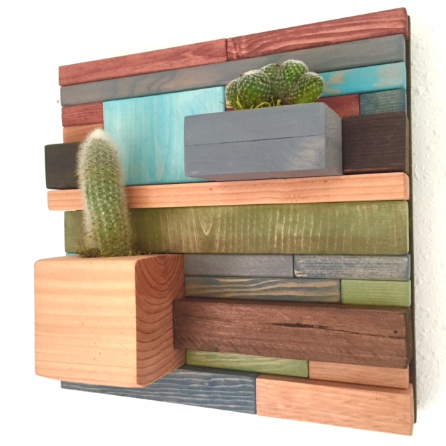 reclaimed wood patchwork