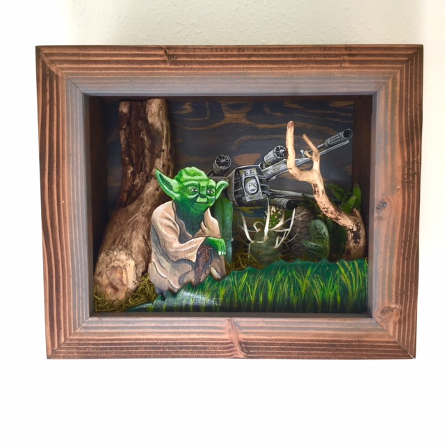 yoda 3-D diorama