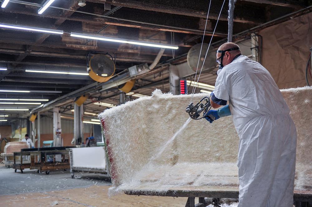 Spray-up process (source: Arrowhead Plastic Engineering)