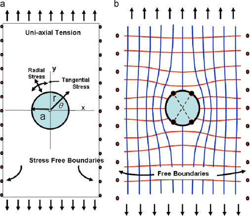 Mapping stress trajectories and width of the stress-perturbation zone near a cylindrical wellbore
