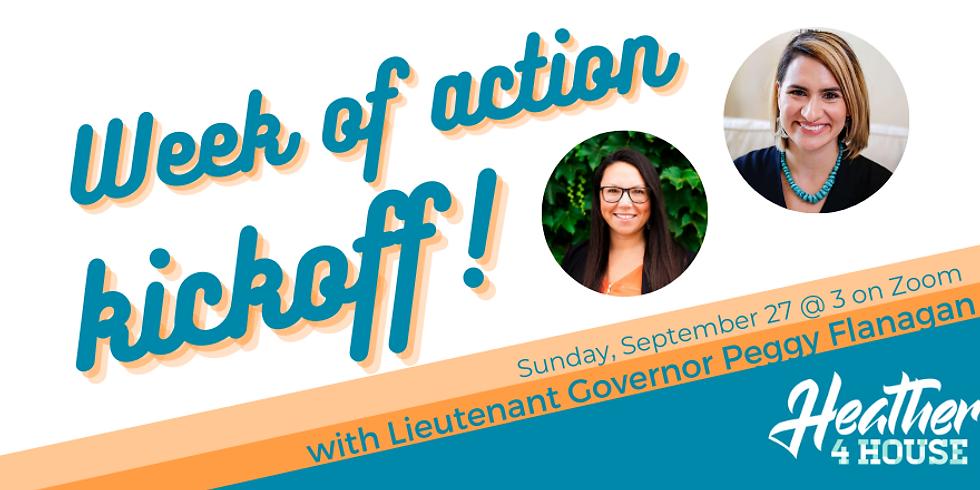 Week of Action kickoff with LG Peggy Flanagan!