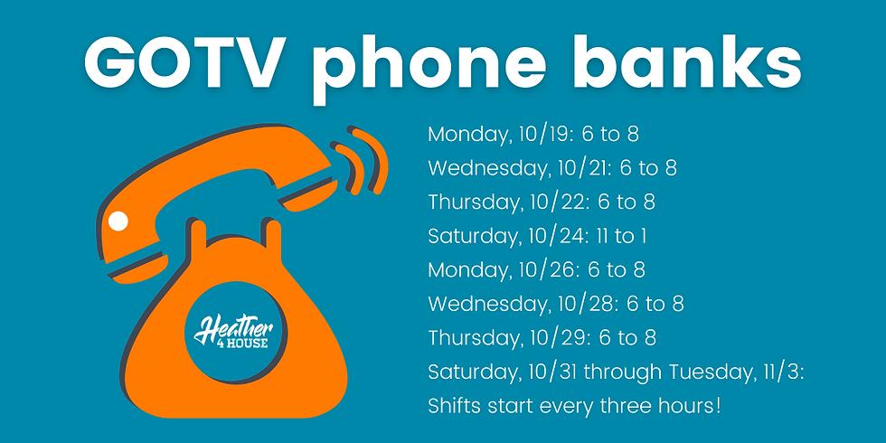 GOTV phone bank: October 21