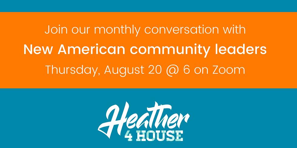 August New American community leaders conversation