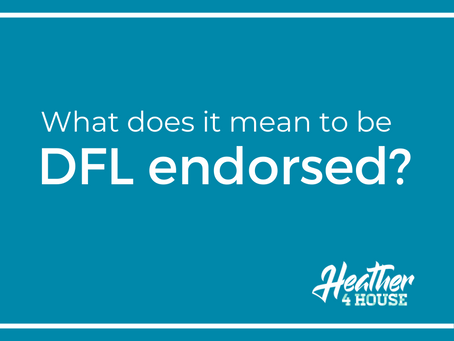 What does it mean to be DFL endorsed?