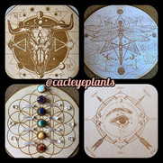These crystal grids and pendulum boards