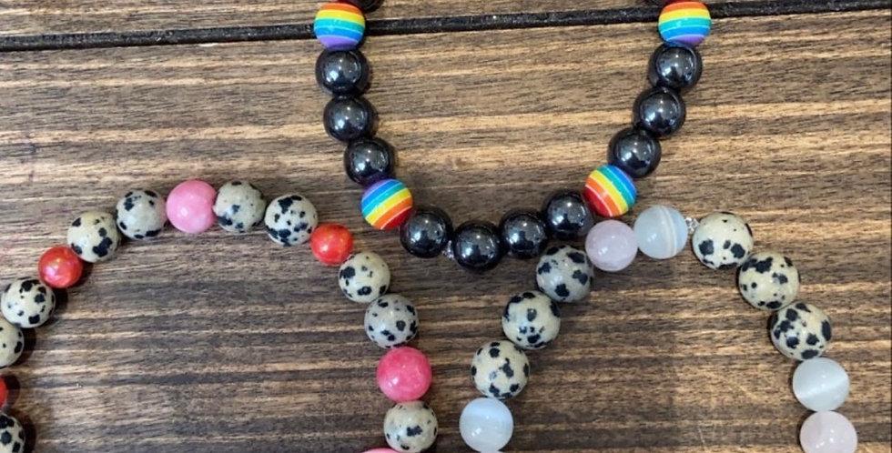 Natural stone bead mixed bracelets