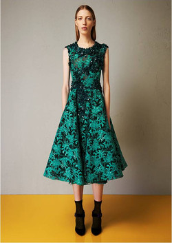 Lace macrame embroidered dress