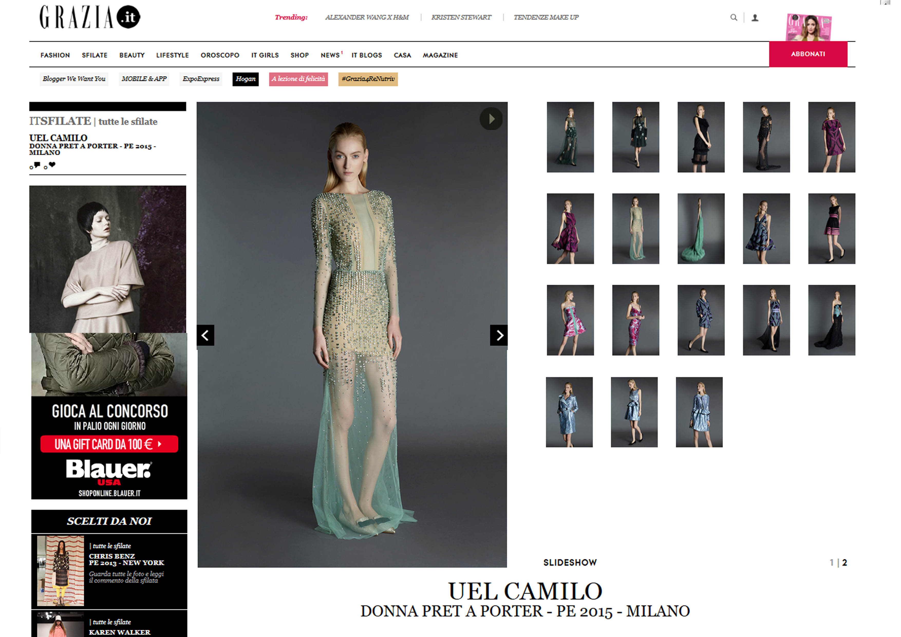 Uel Camilo @Grazia.it