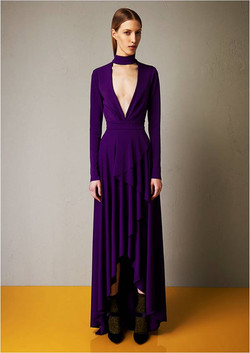 Microcrepe gown