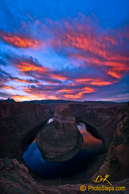 Horseshoe Bend Red Sunset
