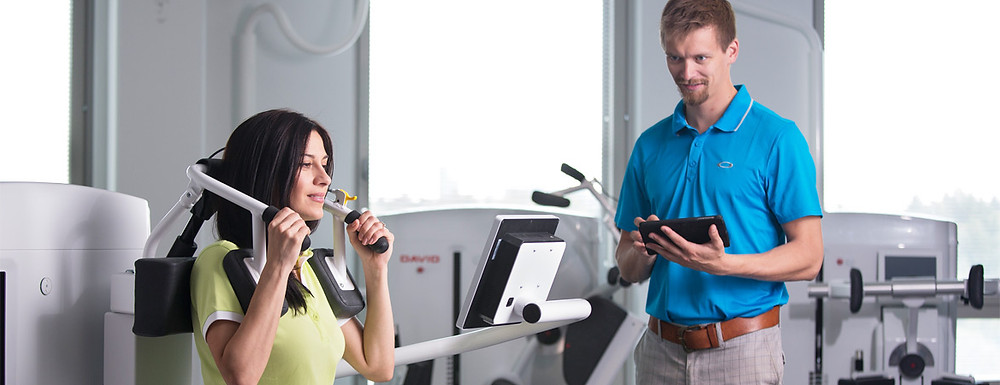 The David Spine Concept machines can be used to measure strength and provide personalized exercise routines for patients with low back pain and neck pain.
