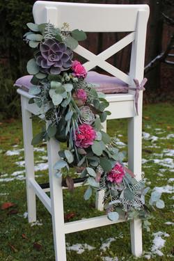 Schmuck für den Brautstuhl