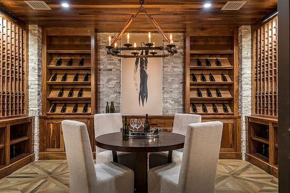 1707Westridge wine room walnut interiors