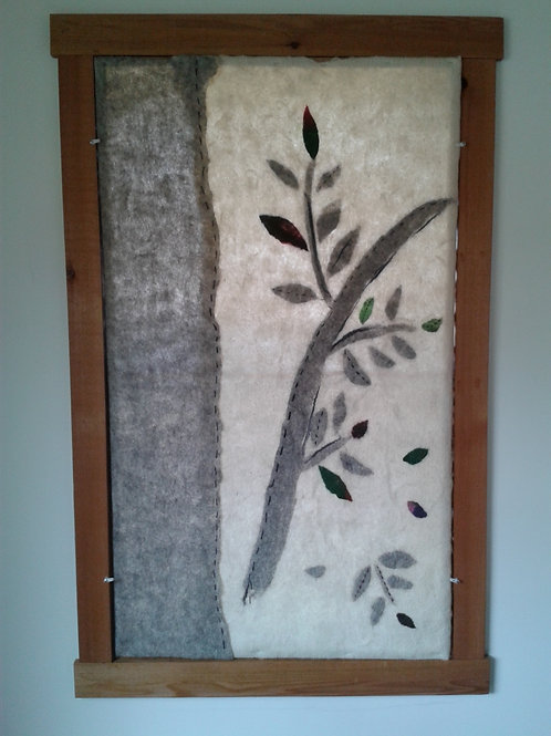 Window felt- tree motif