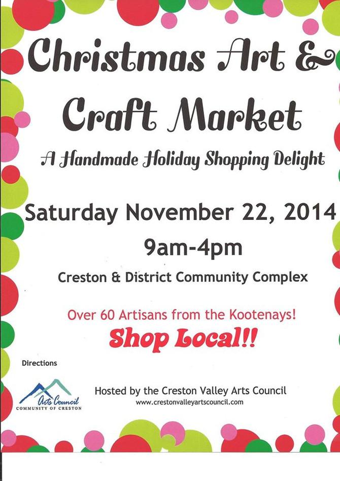 Creston Art and Craft Market is next.