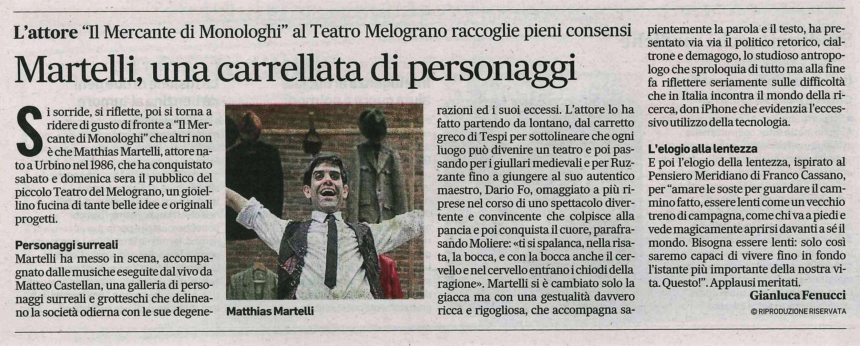Corriere Adriatico, 9/1/18