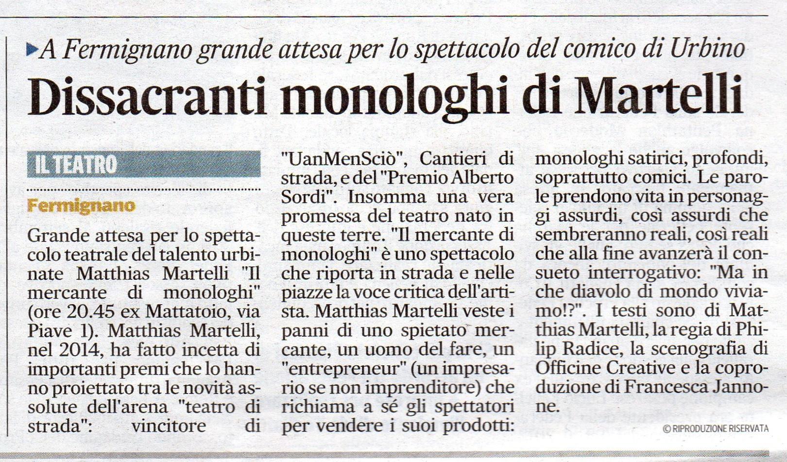 Corriere Adriatico - 2015
