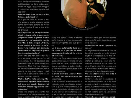 "Matthias Martelli su ""La Freccia"""