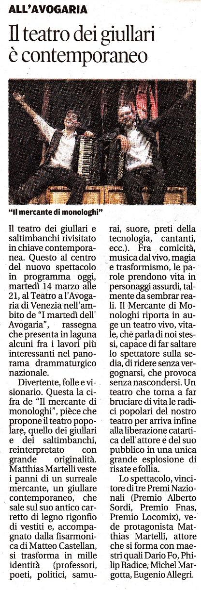 La Nuova Venezia - 14/03/17