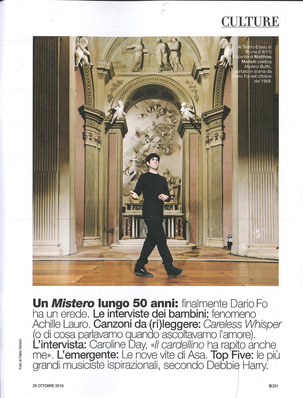 D di Repubblica - Matthias Martelli, Mistero Buffo