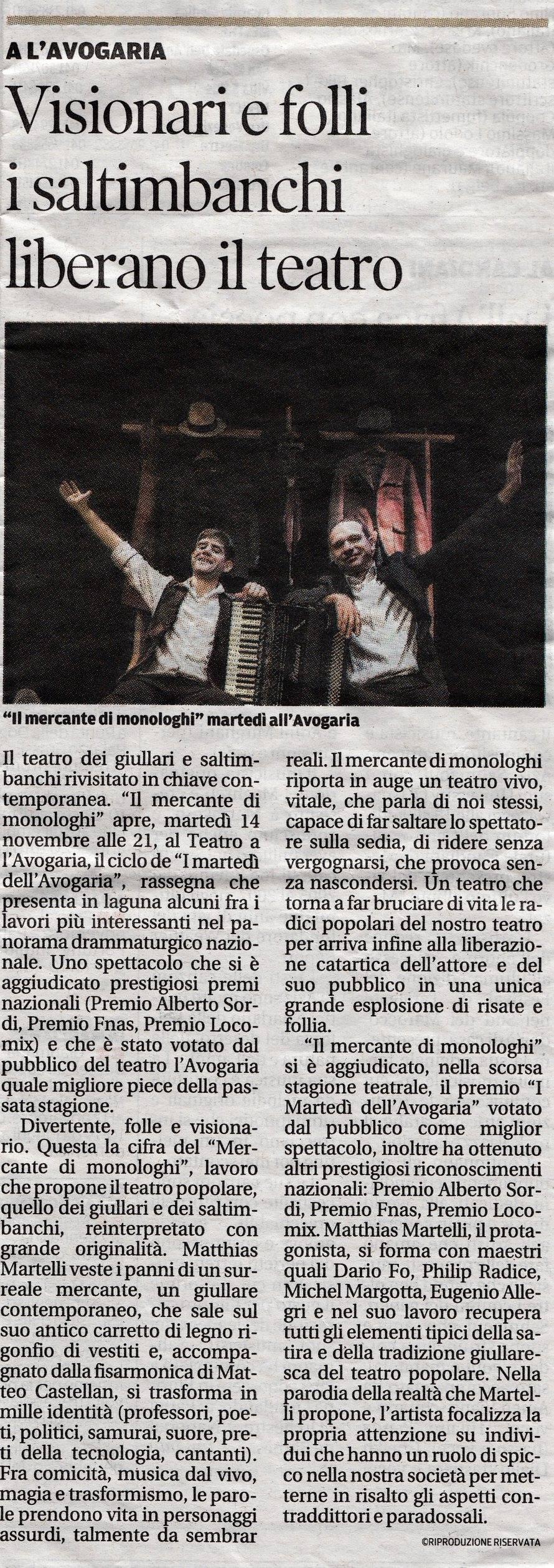La Nuova Venezia - 13/11/17