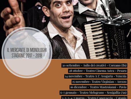 """La stagione 2017/2018 de """"Il Mercante di Monologhi"""""""