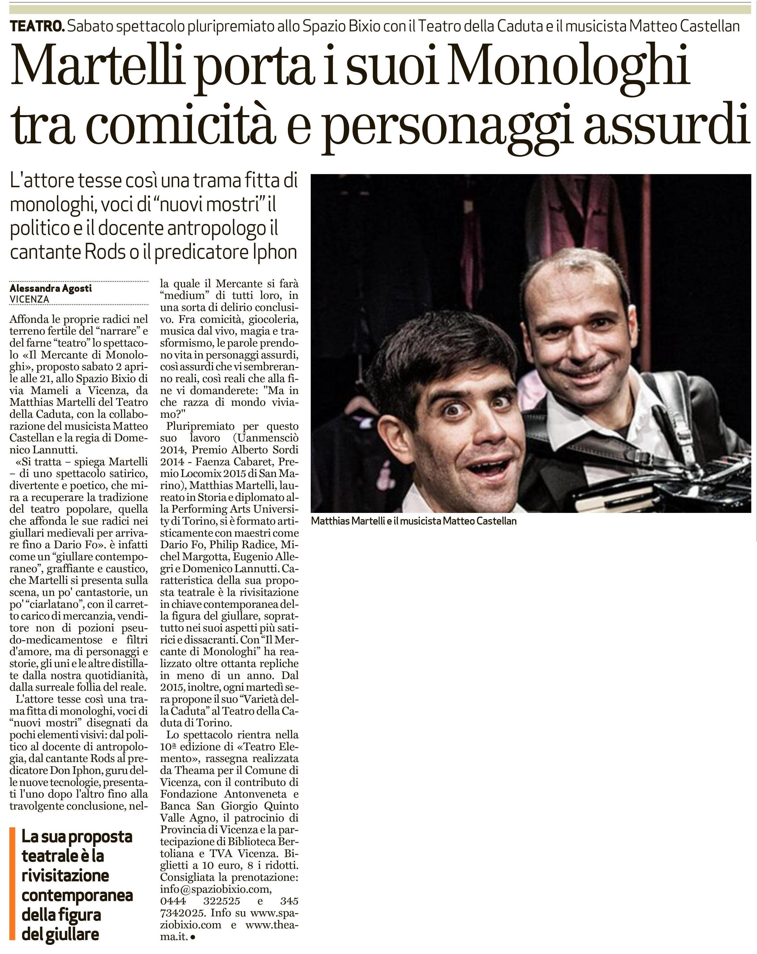 Il Giornale di Vicenza - 31/03/2016