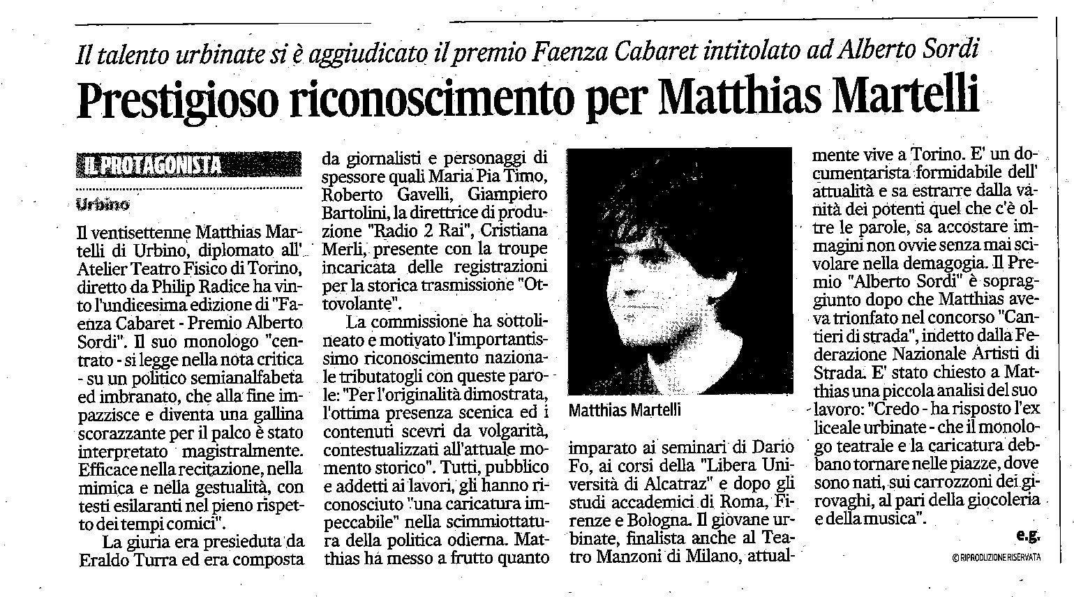 Corriere Adriatico - 2014