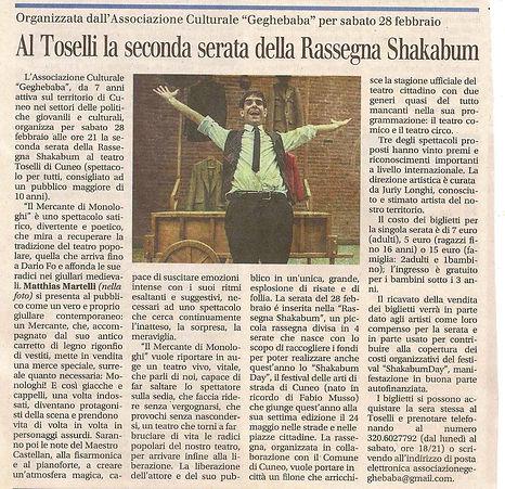 Il Mercante di Monologhi al Teatro Toselli di Cuneo, lo spettacolo è di Matthias Martelli con la musica dal vivo di Matteo Castellan